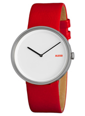 Out Time By Andrea Branzi 41mm Red & White Design Watch