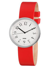 Record By Achille Castiglioni 36mm Red & White Design Gents Watch