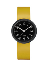 Record By Achille Castiglioni 30mm Mustard Yellow & Black Design Ladies Watch