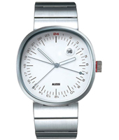 Tic 24 By Piero Lissoni Silver & White 24 Hour watch