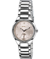 Precious 32mm Silver Ladies Watch with Beige Dial