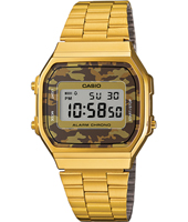 36.30mm Retro Camouflage Gold Digital Watch