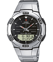 WVA-105HDE-1A 41.40mm Silver Radio Controlled Watch