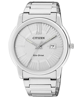 Sport Eco-Drive 42mm Silver Gents Watch with Date
