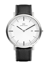 42mm Steel & White Gents Watch on Two-Tone Leather & Nylon Strap