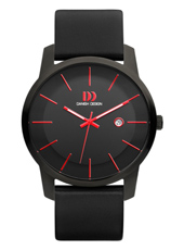 43mm Sporty Black & Red Gents Watch with Date