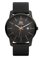 43mm Sporty Black & Orange Gents Watch with Date