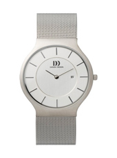 36mm Steel watch with date on a Mesh Strap