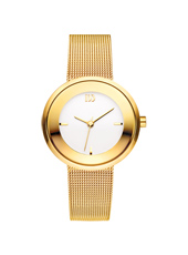 29mm Gold Ladies Watch on a Mesh Strap