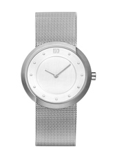34mm Steel Ladies Watch on a Mesh Strap