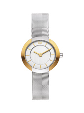 25mm Bicolor Ladies Watch on a Mesh Strap