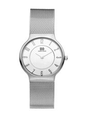 29mm Steel & White Watch on a Mesh Strap