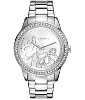 Kylie Silver ladies watch with crystals & decorated dial