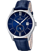 42mm Blue Gents Quartz Watch with Date