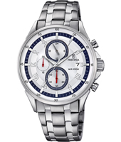 F6853/1  44mm Silver gents chrono watch with date