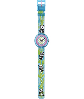 Sunny Hours - Bamboo Party Girls watch with panda bears