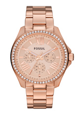 Cecile 40mm Rose Gold Multifunction Ladies watch with Crystals