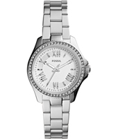 Mini Cecile 30mm Silver Ladies Watch with Crystals