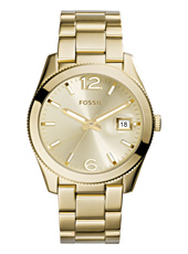 Perfect Boyfriend 39mm Gold Ladies Watch with Date Bubble