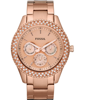 Stella 37mm Rose Gold Multifunction Ladies watch with Crystals