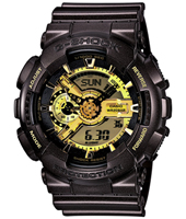 Garrish Brown 51.20mm Dark Brown & Gold Ana-Digi G-Shock Watch