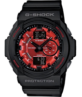 Metallic Finish 52.20mm Big Black & Red Ana-Digi G-Shock Watch