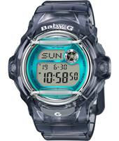 Standard Digital 42.60mm Semi-transparent Purple & Blue Ladies G-Shock Watch