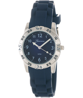 Sporty Steel & Navy Kids watch on Navy rubber strap
