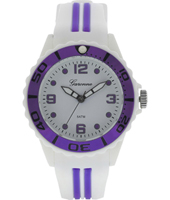 Water Sport  White & Metallic Purple Children's Watch