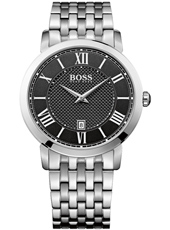 Gentleman 42mm Modern classic silver gent's watch with date display and steel bracelet