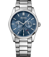 Heritage Sporty chic gent's watch with blue dial and steel bracelet
