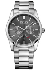 Heritage Sporty chic silver gent's watch with grey dial and steel bracelet