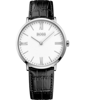 1513370 Jackson Slim Ultra 40mm Gent watch with black leather strap