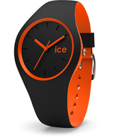 Ice-Duo 41mm Black & Orange Silicone Watch