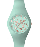 Ice-Skull Turquoise watch with skull dial and silicone strap