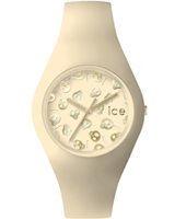 Ice-Skull Ivory watch with skull dial and silicone strap