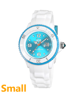 Ice-White White & Turquoise watch size Small