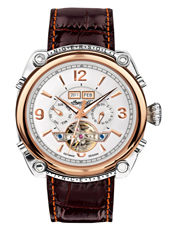 Montgomery 46mm Steel & Rose Automatic Calendar Watch
