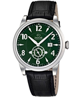 Racing Class Green gents dress watch with date and small second