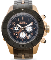 Metal Chrono Series 48mm Large Rose Gold Steel Chronograph Diver