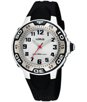 34mm Black & Silver Children's Diver