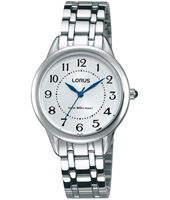 30mm Steel Ladies Watch with Blue hands