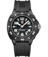 Sentry  44mm Black Carbon Watch with Large Numbers on Rubber Strap