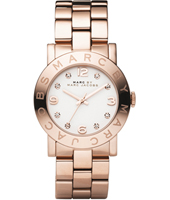 Amy  36mm Rose Gold & White Ladies Watch with Crystal Indexes