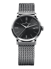 Eliros 38mm Steel & Black Gents Watch with Date