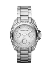 Blair Mini 33mm Silver Lady Glitz Watch