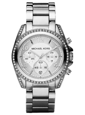 Blair 39mm Silver Lady Chrono Watch