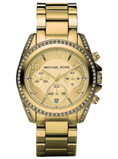 MK5166 Blair 39mm Gold ladies chronograph with Date