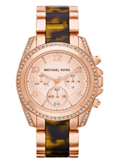 Blair 39mm Rose Gold & Tortoise Lady Watch