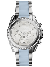 Blair Chambray 39mm Silver & Light Blue Lady Chronograph